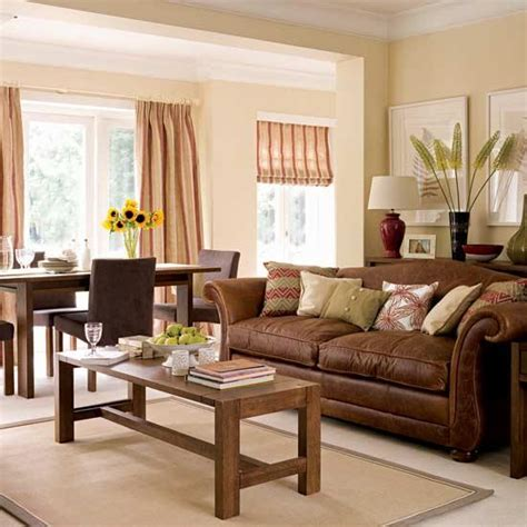Brown Living Rooms by Villas On
