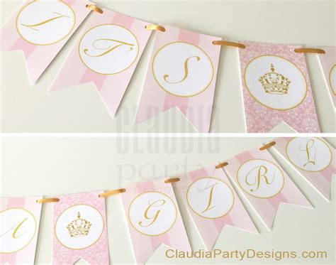 Princess Baby Shower Banner royal princess baby shower banner it s a princess