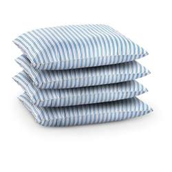 blue bed pillows swedish military surplus bed pillows blue stripe white 4 pack new 232803 blankets at