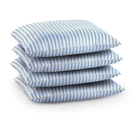 swedish military surplus bed pillows blue stripe white 4