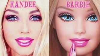eyeliner tattoo kandee johnson watch makeup artist transforms into barbie ruby rose