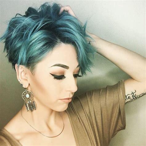 Best 25  Short teal hair ideas on Pinterest   Teal ombre