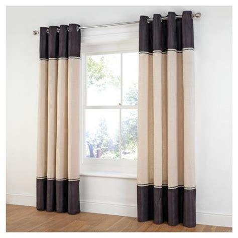 tesco black curtains buy tesco linen look faux suede stripe lined eyelet