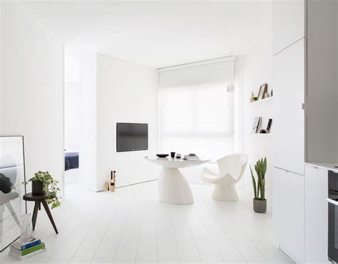 how to make your boring all white kitchen look alive an all white apartment in tel aviv that s anything but