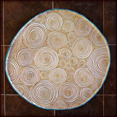 Handmade Decorative Paper - handmade decorative paper mache ottoman tray clouds