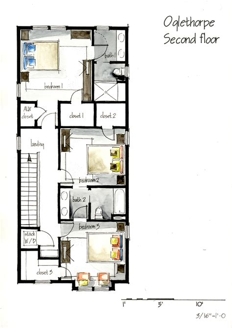 parts of a floor plan real estate watercolor 2d floor plans part 1 on behance
