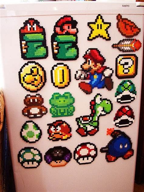 mario fuse mario perler fuse bead designs perler bead patterns