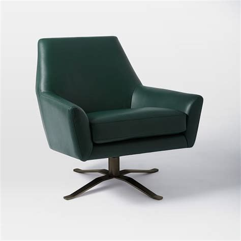 swivel base for chair lucas leather swivel base chair west elm