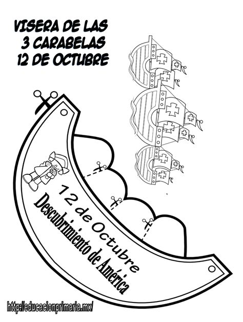 carabelas de cristobal colon para armar fabulosas viseras del 12 de octubre descubrimiento de