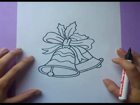 dibujos de navidad paso a paso como dibujar unas canas de navidad paso a paso how to draw bells