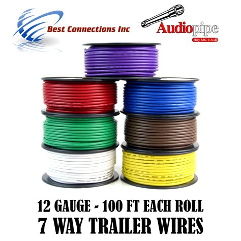 trailer wire light cable for harness 7 way cord 12