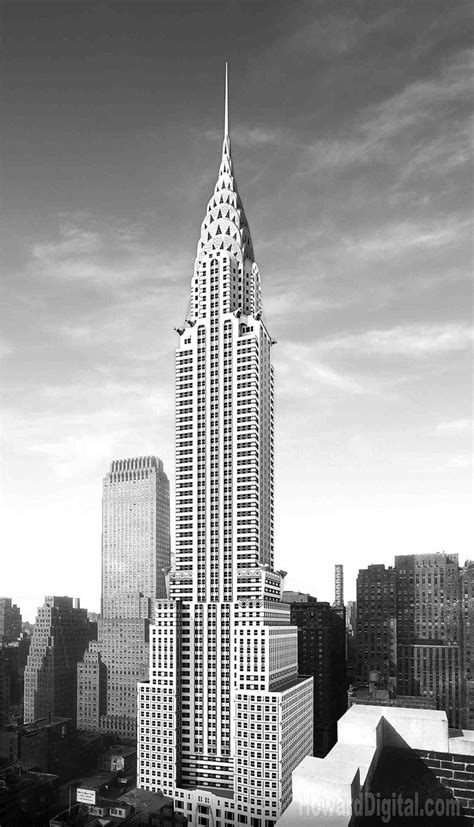 chrysler building black and white new york city buildings from days by new