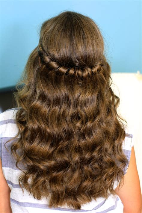 easy hairstyles for hair down headband twist half up half down hairstyles cute girls