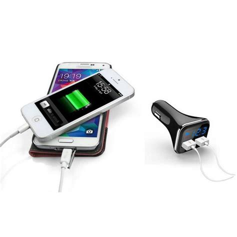 Car Charger Samsung Dual Fast Charging dual usb adaptive fast charging led car charger for