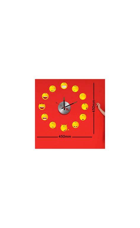 Smiley Deco Sticker by Sticker Horloge Adh 233 Sif Pour D 233 Corer La Chambre Des