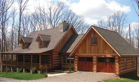 log cabin floor plans with garage cabin house plans with attached garage home deco plans