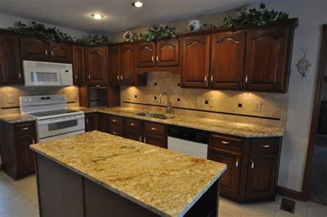 ideas for kitchen backsplash with granite countertops granite countertops and tile backsplash ideas eclectic