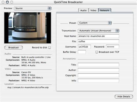 filme stream seiten network lrz live streaming mit dem quicktime broadcaster