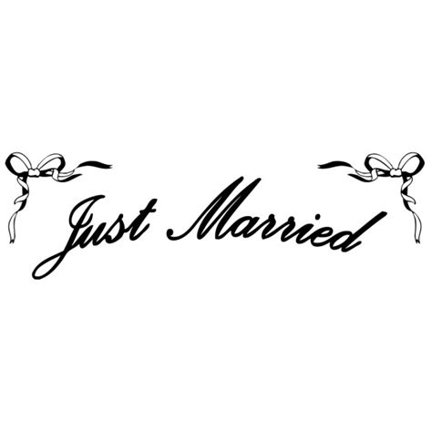 Aufkleber Just Married by Stickers Just Married 183 184 184 France Stickers