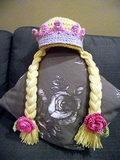 crochet princess hat with braids crochet princess hat with crown and braids free pattern