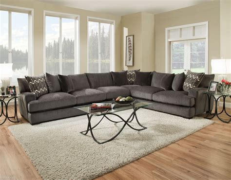 Ultimate Sectionals by 1600 Ultimate Smoke Sectional American Furniture