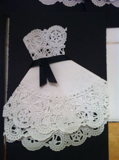 Bridal shower invites made with doilies!  can make with