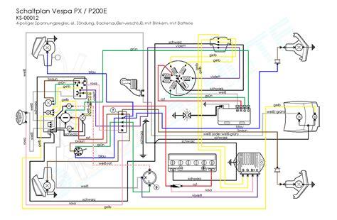 vespa px wiring diagram vespa px 200 wiring diagram