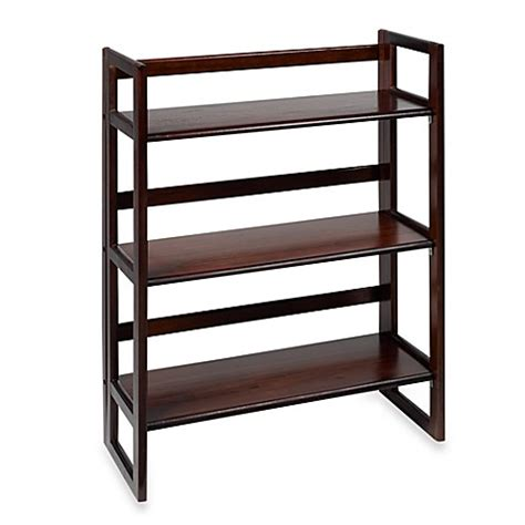 bed bath and beyond bookcase folding 3 tier bookcase bed bath beyond
