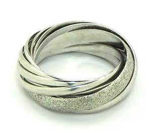 Attractive Mens White Gold Wedding Rings #5: Ladies-18k-White-GoldTrinity-Style-Wedding-Bands-Ring2.jpg