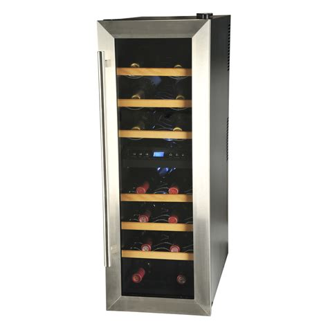 To Market Recap Wine Cooler by Shop Kalorik 21 Bottle Black And Stainless Steel Dual Zone