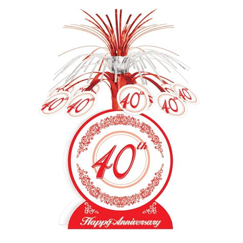 40th anniversary color what are best 40th wedding anniversary gift ideas