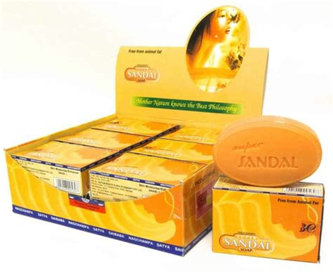 Medicinal And Cosmetic Value Of Sandalwood by Satya Sai Baba Nag Cha Incense 4x 75g Sandal