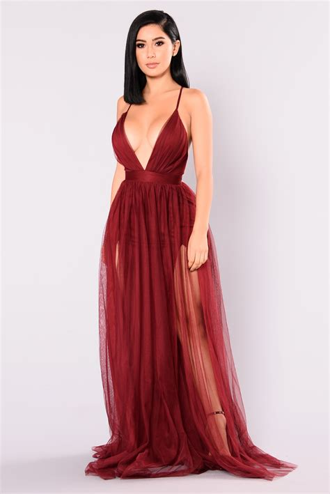 Maxy Is on the runway maxi dress wine