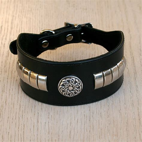 metal buckle collar celtic metal leather buckle collar 2 inch wide by celtic hound collars