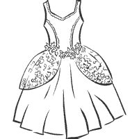ball gown 187 coloring pages 187 surfnetkids