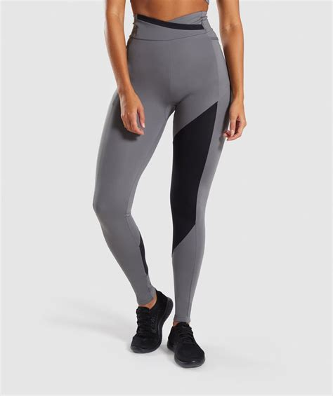 gymshark asymmetric leggings smokey greyblack