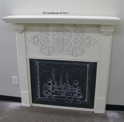 diy chalk paint fireplace the humblenest of mrs v diy faux fireplace chalk it up