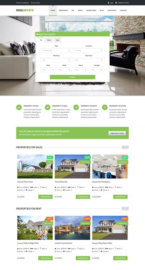 realestate responsive theme