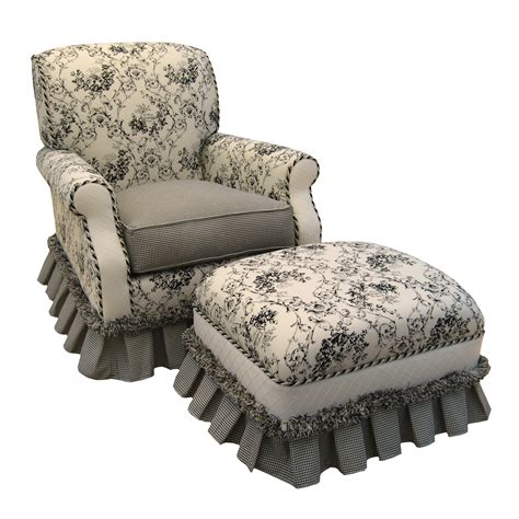 Black Glider Rocker With Ottoman Song Black Toile Club Glider Rocker With Ottoman Atg Stores
