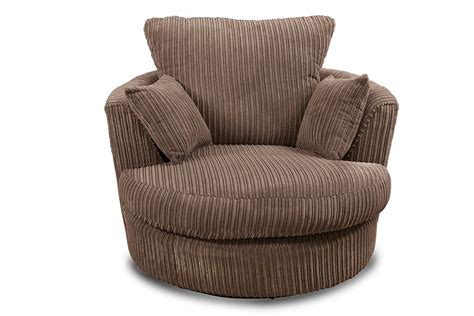 swivel cuddle chair joy swivel cuddle chair brown fabric jumbo cord corner sofas
