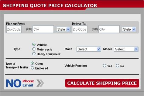 auto shipping cost calculator auto mover updates