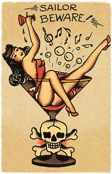 11 x 17 mans ruin martini glass jerry style flash poster print