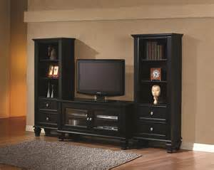 Cheap Bedroom Nightstands Coaster 702251 Black Wood Tv Stand Steal A Sofa