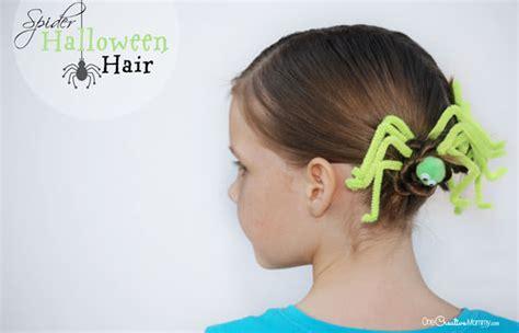 perfect for vbs crazy hair day for hadley bear someday fun halloween hair spider hair onecreativemommy com
