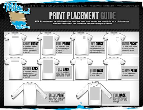 placement template graphic placement on tees technical design