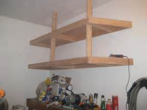 How To Make Hanging Garage Shelves by Building Garage Shelves