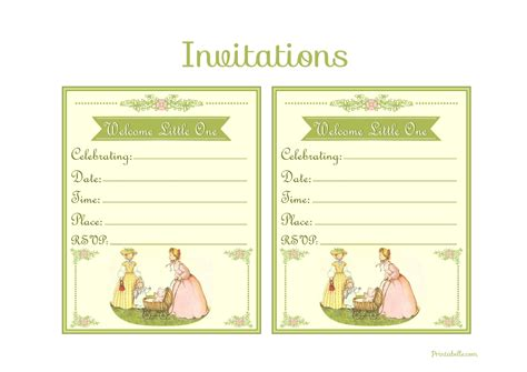 100 vintage baby shower invitation templates
