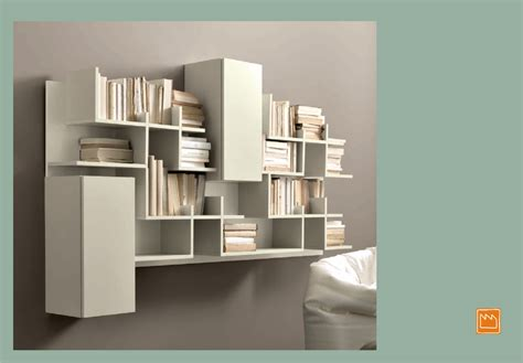 librerie bianche liberie pensili di design