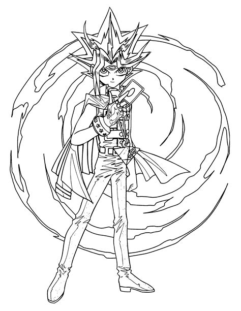 coloring page yu gi oh coloring pages 60