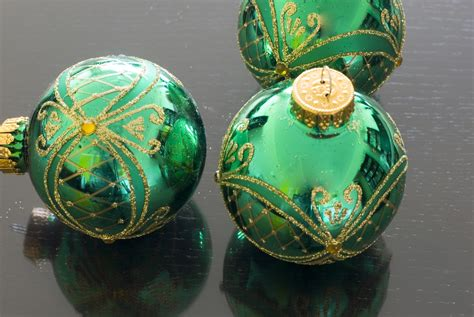 green baubles decorations photo of green baubles free images